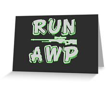 Run AWP white Greeting Card
