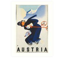 Ski Austria Art Print