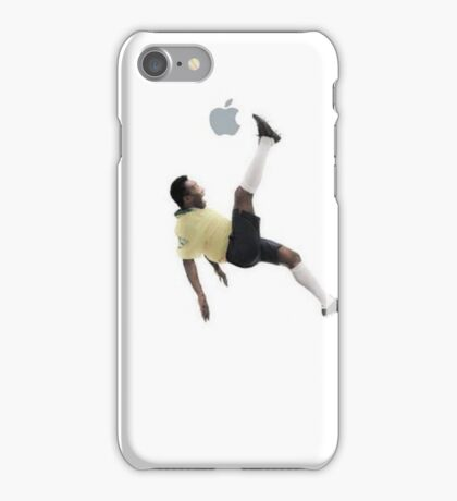 Pele kicking an Apple iPhone Case/Skin