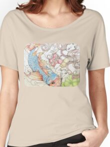 The Princess and The Koi Fish Women's Relaxed Fit T-Shirt