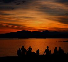 Sunset over English Bay by pernillajonsson
