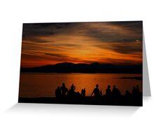 Sunset over English Bay Greeting Card