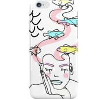 mermaid surrounded by fish iPhone Case/Skin