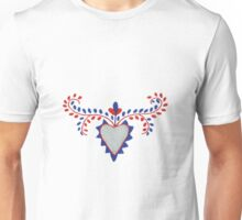 Portugal Embroidered Heart Unisex T-Shirt