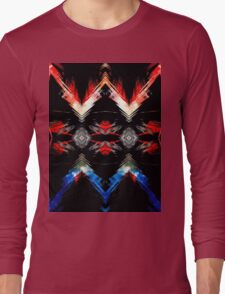 Shifted Red, White, & Blue Long Sleeve T-Shirt