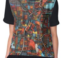 Abstract Map of San Antonio TX Chiffon Top