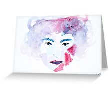 Puzzle face Greeting Card