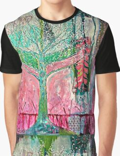 Acid tree japaneese cherry blossom watercolor Graphic T-Shirt