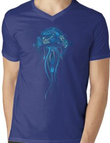 Blue Jellyfish Mens V-Neck T-Shirt