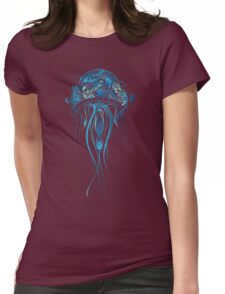 Blue Jellyfish Womens Fitted T-Shirt