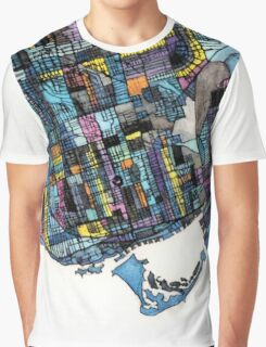 Abstract Map of Toronto Ontario Graphic T-Shirt