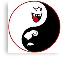 Bullet Bill & Boo Yin-Yang Canvas Print