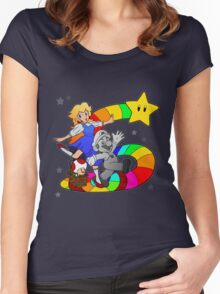 Follow The Rainbow Road! Women's Fitted Scoop T-Shirt