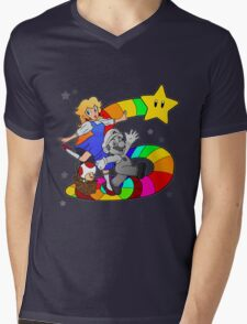 Follow The Rainbow Road! Mens V-Neck T-Shirt