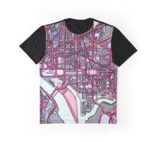 Abstract Map of Washington DC Graphic T-Shirt