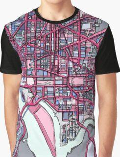 Abstract Map of Washington DC Graphic T-Shirt
