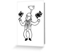 Boris On A Zipline Greeting Card