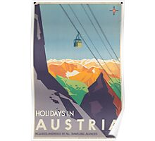 Austrian Cable Car Poster