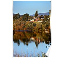 Reflections in the Derwent River Poster