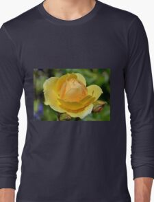 Yellow Rose Portrait. Long Sleeve T-Shirt
