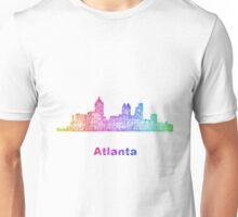 Rainbow Atlanta skyline Unisex T-Shirt