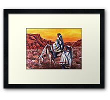 Wrapped In Tradition, Nomads Framed Print