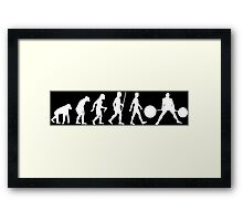 Evolution of Man (Strongman) Framed Print