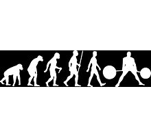 Evolution of Man (Strongman) Photographic Print