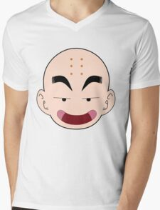 Krillin Big Face Mens V-Neck T-Shirt