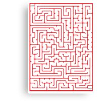 Maze in Red Canvas Print