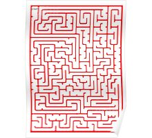 Maze in Red Poster