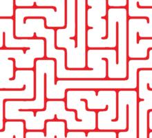 Maze in Red Sticker