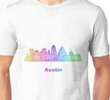 Rainbow Austin skyline Unisex T-Shirt