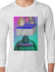 『LE MONKE』Vaporwave Aesthetics Long Sleeve T-Shirt