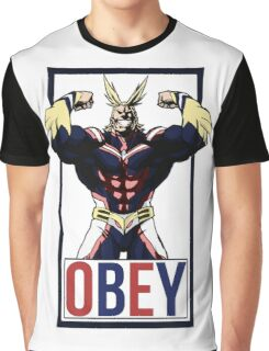 OBEY All Might - My Hero Academia  Graphic T-Shirt