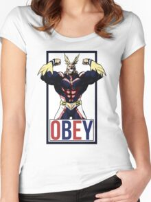 OBEY All Might - My Hero Academia  Women's Fitted Scoop T-Shirt