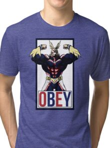 OBEY All Might - My Hero Academia  Tri-blend T-Shirt