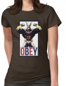 OBEY All Might - My Hero Academia  Womens Fitted T-Shirt
