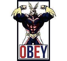 OBEY All Might - My Hero Academia  Photographic Print