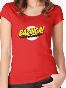 Bazinga - The Big Bang Theory Women's Fitted Scoop T-Shirt