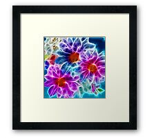 Sci-fi Flowers Framed Print