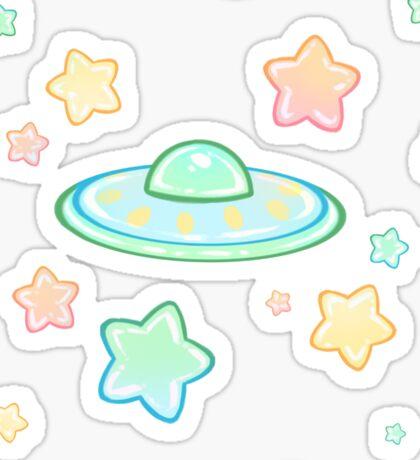 Cute UFO Sticker