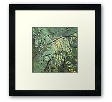 Green vibration of the leaves Framed Print