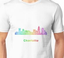 Rainbow Charlotte skyline Unisex T-Shirt