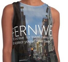 fernweh : a crave for travel Contrast Tank