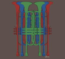 Six Trumpets red blue green Baby Tee