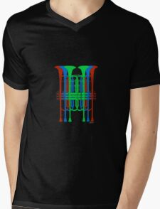 Six Trumpets red blue green Mens V-Neck T-Shirt
