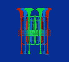 Six Trumpets red blue green by mandalafractal