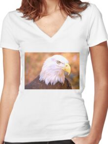 Pride Of America Women's Fitted V-Neck T-Shirt