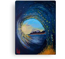 In the eye of the wave Canvas Print